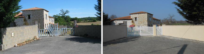 Mur d'entrée