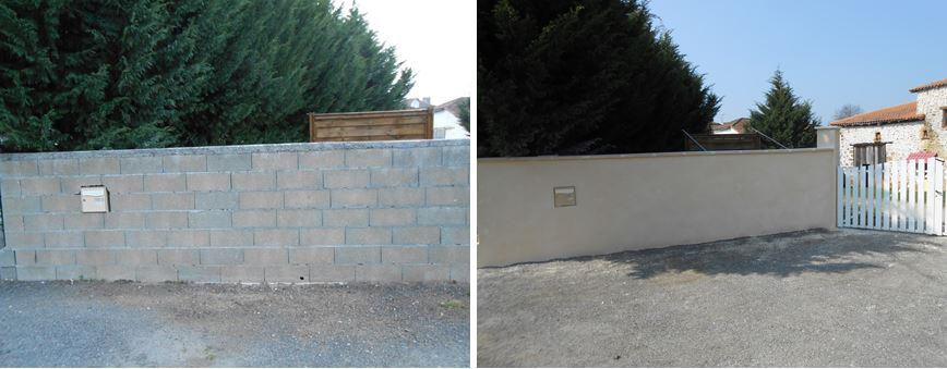 Mur d'entrée droite